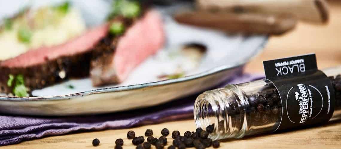 Schwarzer Premiumpfeffer zum Steak