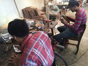 Handwerkstatt in Phnom Penh