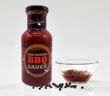 BBQ Sauce mit schwarzem Kampot Pfeffer