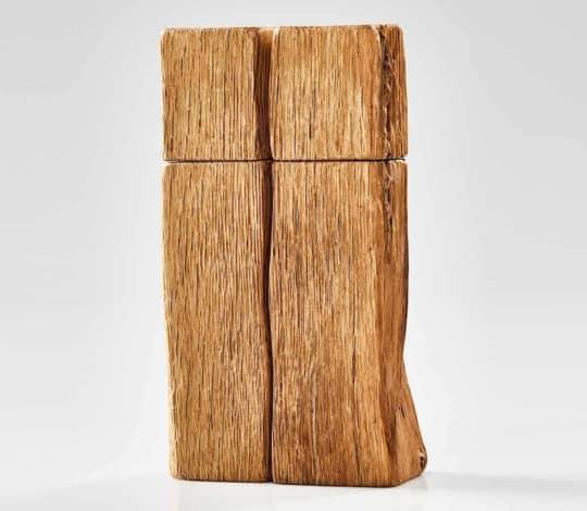 Gewürzmühlen 2er Set aus alten Eichenholz.