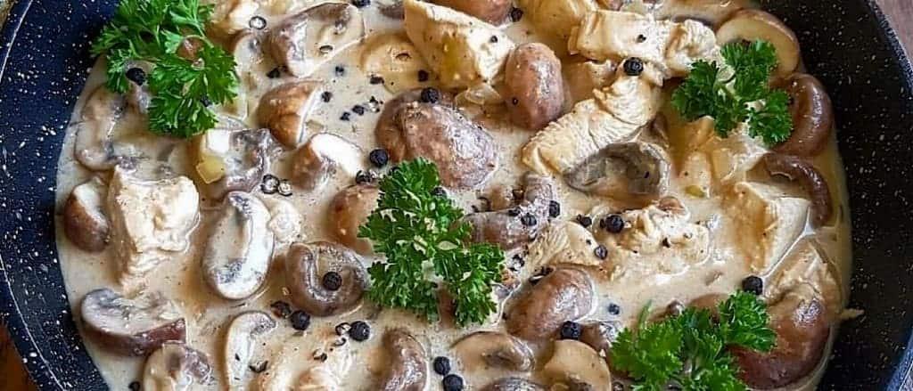 Hähnchenpfanne in Pfeffersauce