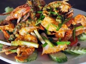 Crab mit Kampot Pfeffer