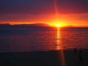 Sonnenuntergang Kep Kambodscha