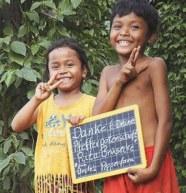 Kinder in Kampot Kambodscha