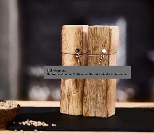 Design Pfeffermühlen aus Holz