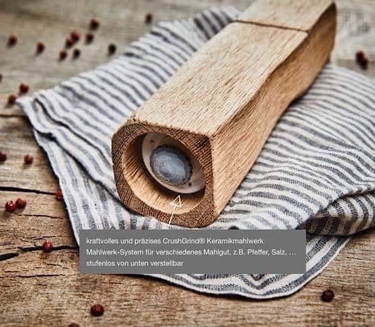 Pfeffermühle mit hochwertigem Mahlwerk