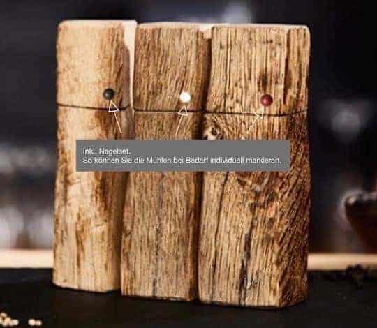 Pfeffer und Salzmühlen aus Holz