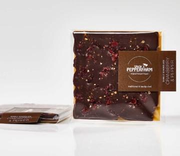 Dunkle Schokolade mit Pfeffer