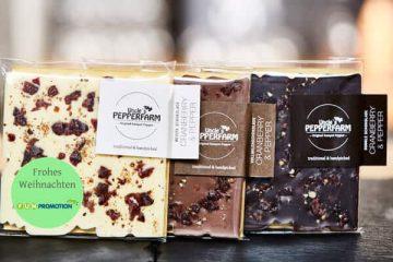 Firmenkunden Werbegeschenke Pfefferschokolade