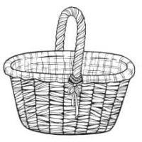 Skizze von einem Einkaufskorb